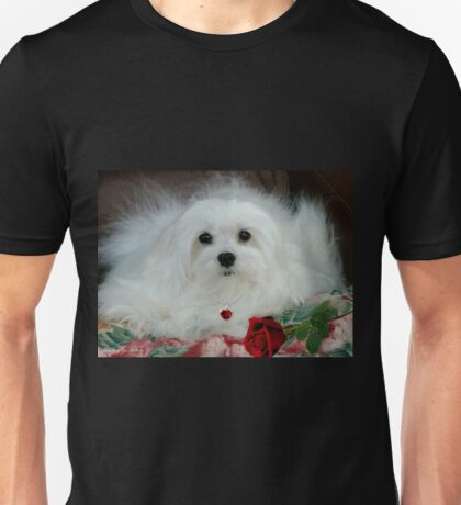 Snowdrop the Maltese on Mother's Day Unisex T-Shirt