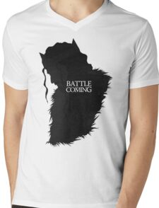 The Battle is Coming Mens V-Neck T-Shirt