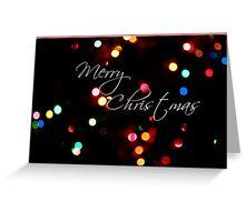 Merry Christmas Lights holiday card Greeting Card
