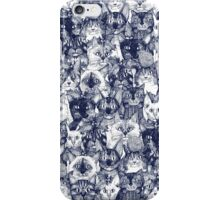 CHRISTMAS CATS blue iPhone Case/Skin