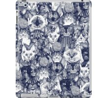 CHRISTMAS CATS blue iPad Case/Skin
