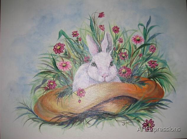 Easter Bunny by ArtExpressions