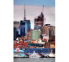 New York Cityscape with boats Photographic Print