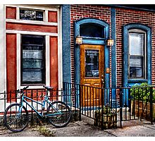 Bicycle with building Photographic Print