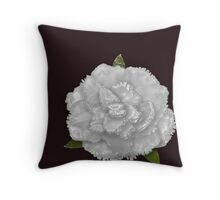 Glass white rose Throw Pillow