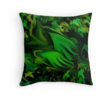 Sleeping forest baby Throw Pillow