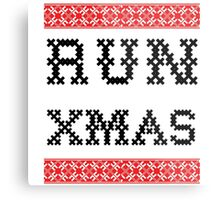 Sweater Shirt | Run Xmas Metal Print