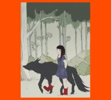 Red Riding Boots And Big Black Wolf Kids Clothes
