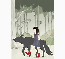 Red Riding Boots And Big Black Wolf Women's Tank Top