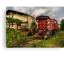 The engine and a Crane Car Canvas Print