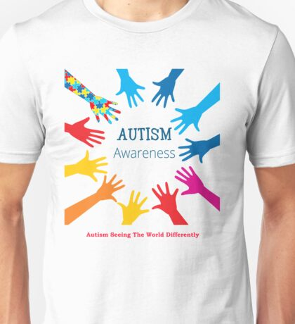 Autism Seeing The World Differently Shirt Unisex T-Shirt