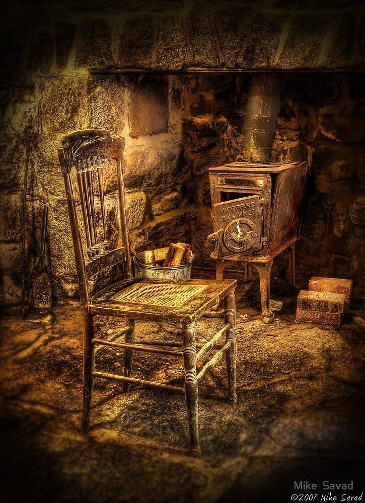 The chair and stove by Mike  Savad