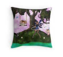 Fairy Play Throw Pillow