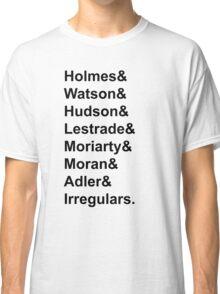Sherlock Holmes Character List (Black Text) Classic T-Shirt