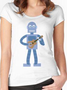 Ukulele Robot Women's Fitted Scoop T-Shirt