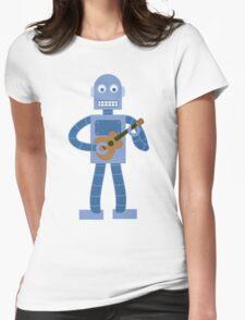 Ukulele Robot Womens Fitted T-Shirt