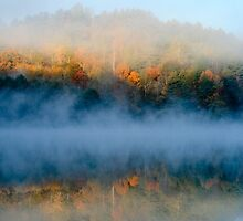 Morning Mist on the lake by KSKphotography