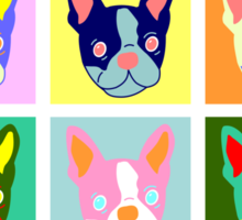 Boston Terrier Pop Art Sticker