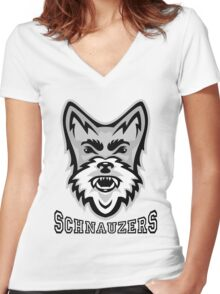 Schnauzer Sports Women's Fitted V-Neck T-Shirt