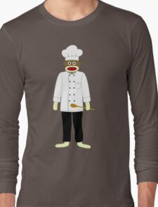 Sock Monkey Chef Long Sleeve T-Shirt