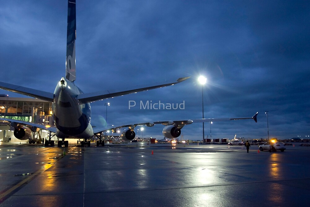 A-389 night view- by P Michaud