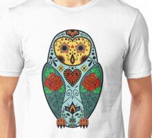 Sugar Skull Barn Owl Unisex T-Shirt