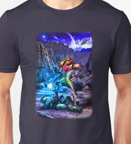 Samus Vs M.Chief Unisex T-Shirt