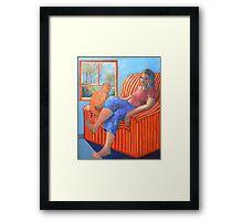 The Ginger Cat  Framed Print
