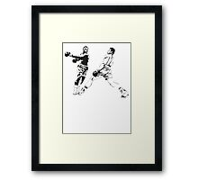 Muhammad Ali vs Joe Frazier - Rumble in the Jungle - Boxing Legends Framed Print