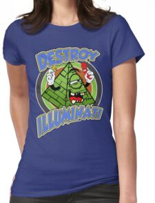 Destroy The Illuminati Womens Fitted T-Shirt