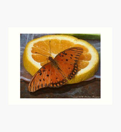 Orange On Orange Art Print