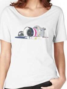 camera and brush Women's Relaxed Fit T-Shirt