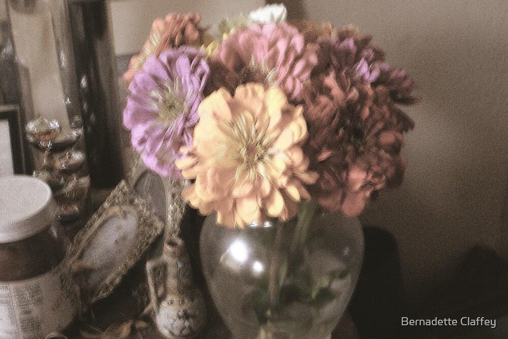 Zinnias by Bernadette Claffey