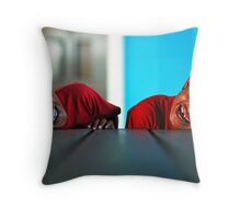 Reflection of Smiles Throw Pillow