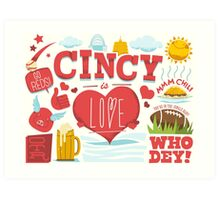 Cincy Is Love Art Print