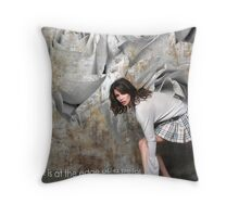 It is at the edge of a petal... Throw Pillow