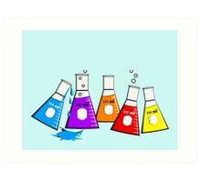 Chemist Beekers Art Print