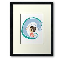 Haku and Sen Framed Print