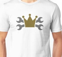 Crossed screw wrench crown Unisex T-Shirt
