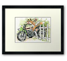 MOTO THEIF! Framed Print