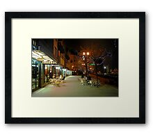 Early Morning Friends Framed Print