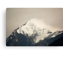 Pandim's peak in the Himalayas Canvas Print