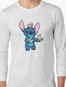 Stitch with Ducks Long Sleeve T-Shirt