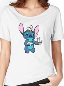 Stitch with Ducks Women's Relaxed Fit T-Shirt