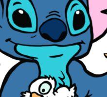 Stitch with Ducks Sticker