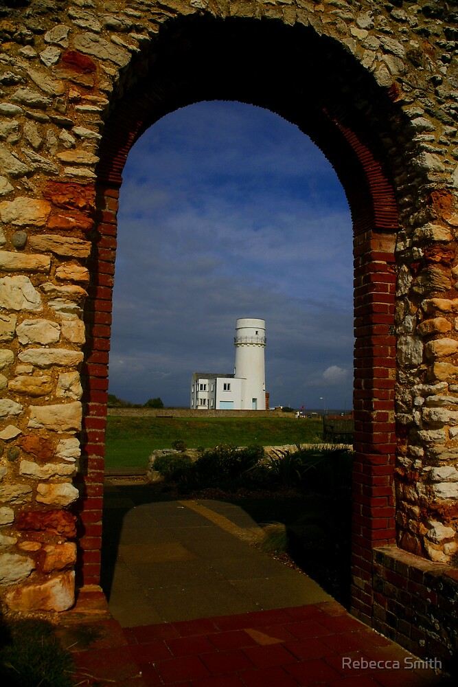Old Hunstanton Lighthouse Norfolk by Rebecca Smith