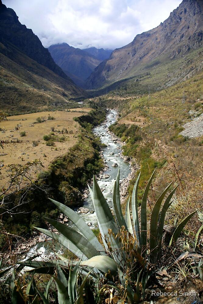 Mountain Scene Peru by Rebecca Smith