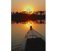 Amazon Sunset Photographic Print