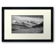 Kanchenjunga and Hikers Framed Print