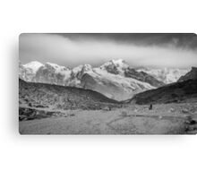 Kanchenjunga and Hikers Canvas Print
